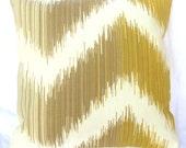 Cushion Cover - FIRENZE SAFFRON - 16 x 16 Inches