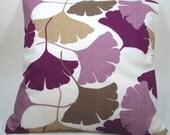 GINKO DAMSON - Decorative Cushion Cover - 18 x 18 Inches