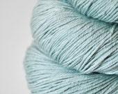 Rotten mint candy OOAK - Merino/Silk superwash yarn fingering weight