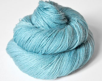 Melting blue glacier - BabyAlpaca/Silk Lace Yarn