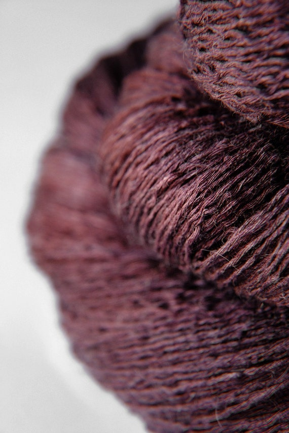 Mashed Blackberry - Silk/BabyCamel/Merino Yarn Lace weight