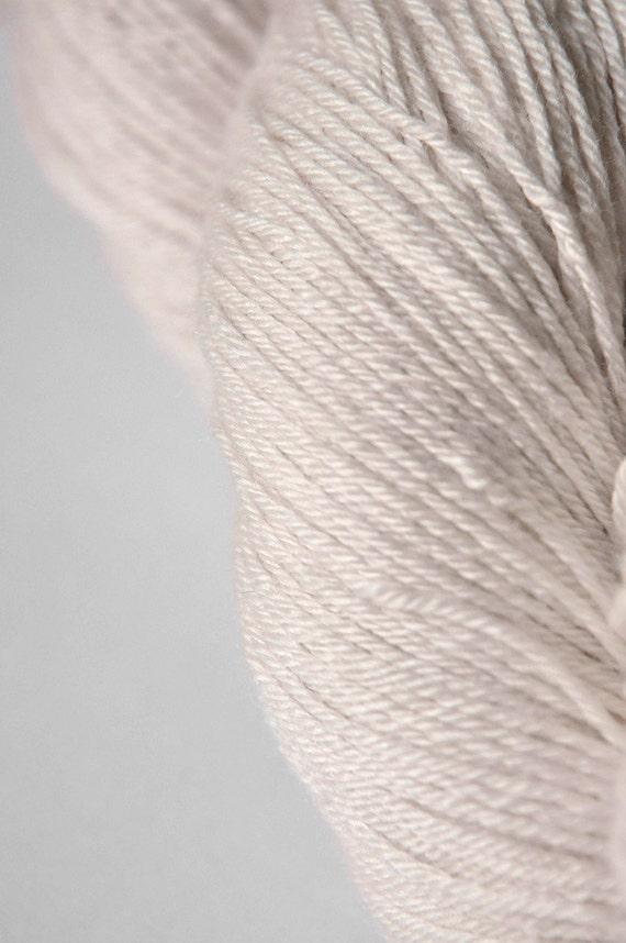 Fading ghost of a red rose OOAK  - Merino/Silk yarn fingering weight