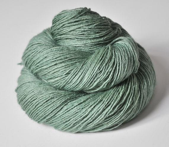 Dyeing water nymph OOAK - BFL Sock Yarn superwash