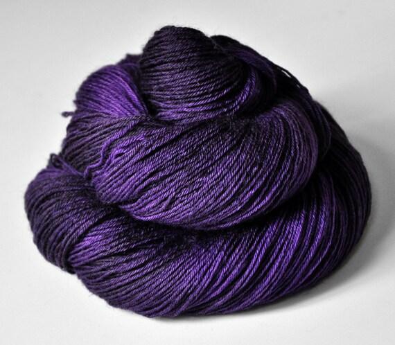 Purple nightmare OOAK - BFL Sock Yarn superwash