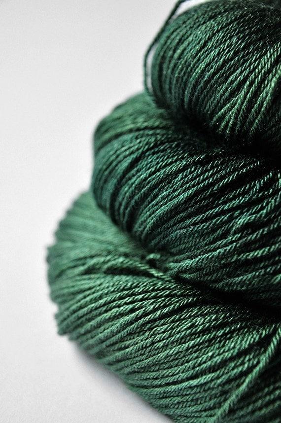 In the dark forest OOAK - Merino/Silk superwash yarn fingering weight