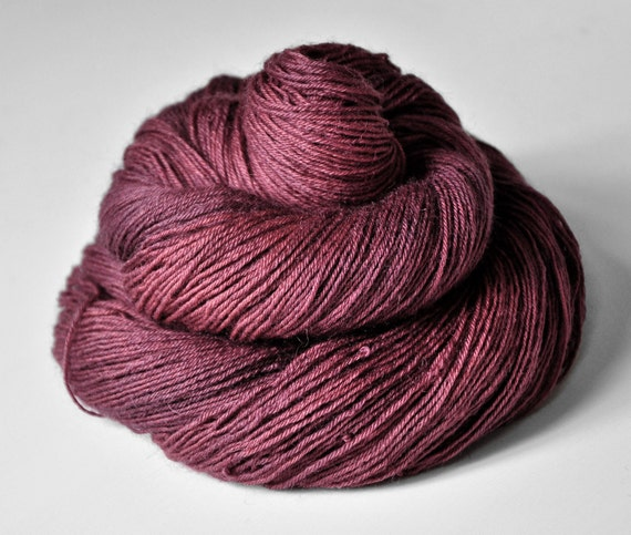 Fuchsia coming to dust OOAK - BFL Sock Yarn superwash
