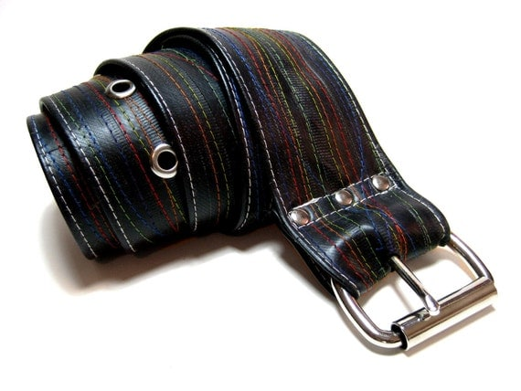 Rainbow Pride Bicycle Tube Belt - STITCHED