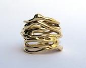 Multiple Threads Brass Ring.