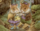 Old Vows Made New Hamster Couple 5x7 Print