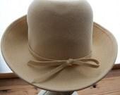 Vintage Camel Colored Wool Hat