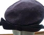 Vintage Purple Wool Felt Hat