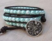 My Cariads Wrist Wrap Bracelet Sea Blue
