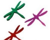 Dragonfly Small Clear Dichroic Glass (90 coe) 3 each for fusing