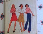 Vintage Simplicity 7112 Skirt and Pants Pattern - Misses Size 14 - Waist 28