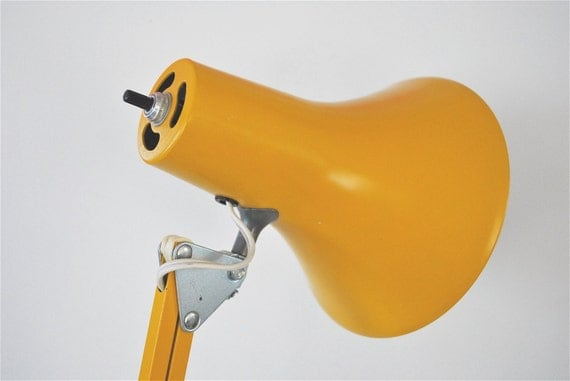Vintage Mustard Yellow Luxo Desk Lamp With Base