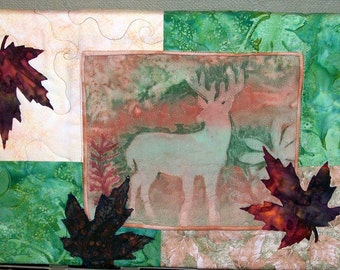 """SALE***Deer Wall Hanging """"Standing in the Forest"""""""