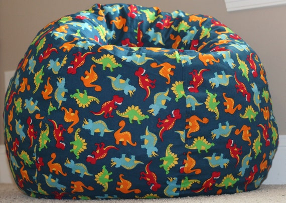 Dinosaur Bean Bag Chair Cover With Liner By Maddoxandelise