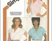 Simplicity Pattern 5887 for V Neck Blouse Size 10-14