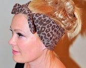 Headwrap Headband Animal Print Cheetah Leopard Hair Scarf Turban Stretch Jersey Head Covering Gift under 25