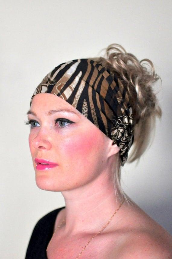 Cheetah Headband Hair Wrap Headband Leopard Animal Print Wide Hairwrap Head Scarf Yoga Bandana Stretch Elastic Spring Mothers Day Gift