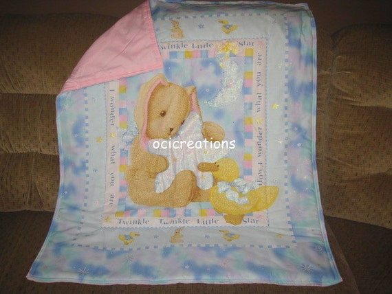 Twinkle Baby Blanket Bunny And Duck Twinkle Little Star For Girls Ready To Ship