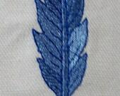 SCA - Embroidered  Belt Favor - Light Blue Feather