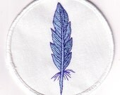 SCA - Embroidered  Patch - Blue feather - light