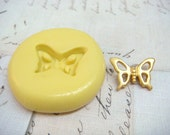 TINY BUTTERFLY Outline - Flexible Silicone Mold - Push Mold, Jewelry Mold, Polymer Clay Mold, Resin Mold, Craft Mold, Food Mold, PMC Mold