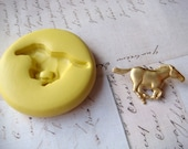 MUSTANG / HORSE - Flexible Silicone Mold - Push Mold, Polymer Clay Mold, Pmc Mold, Supplies, Resin Mold, Crafting Mold