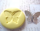 BUTTERFLY (medium) -  Flexible Silicone Mold -  Push Mold, Jewelry Mold, Polymer Clay Mold, Resin Mold, Craft Mold, Food Mold, PMC Mold