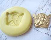 ANGEL PRAYING - Flexible Silicone Mold - Push Mold, Polymer Clay Mold, Pmc Mold, Clay Mold, Resin Mold