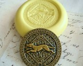 Celtic Dog / Greyhound - Flexible Silicone Mold - Push Mold, Jewelry Mold, Polymer Clay Mold, Resin Mold, Craft Mold, Food Mold, PMC Mold