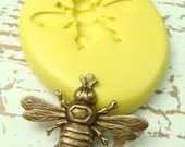 Bee (with bail)  - Flexible Silicone Mold - Push Mold, Jewelry Mold, Polymer Clay Mold, Resin Mold, Craft Mold, PMC Mold