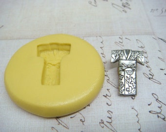 JAPANESE KIMONO - Flexible Silicone Mold - Push Mold, Jewelry Mold, Polymer Clay Mold, Resin Mold, Craft Mold, Food Mold, PMC Mold