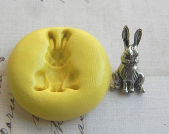 RABBIT SITTING - Flexible Silicone Mold - Push Mold, Polymer Clay Mold, Resin Mold, Crafting Mold, Pmc Mold