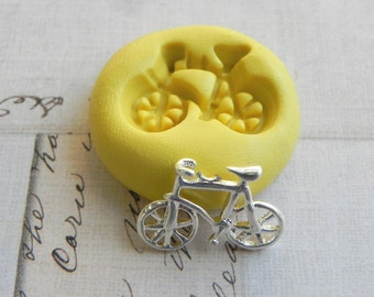 BICYCLE - Flexible Silicone Mold - Push Mold, Jewelry Mold, Polymer Clay Mold, Resin Mold, Craft Mold, Food Mold, PMC Mold