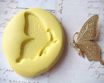 BUTTERFLY in FLIGHT - Flexible Silicone Mold - Push Mold, Jewelry Mold, Polymer Clay Mold, Resin Mold, Craft Mold, Food Mold, PMC Mold