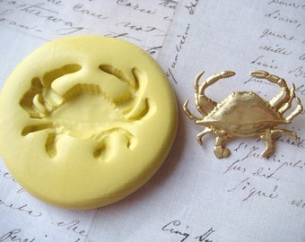 CRAB (large) - Flexible Silicone Mold - Push Mold, Jewelry Mold, Polymer Clay Mold, Resin Mold, Craft Mold, Food Mold, PMC Mold