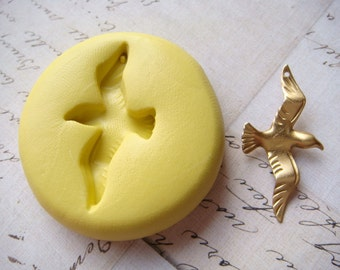 SEAGULL (with bail hole) - Flexible Silicone Mold - Polymer Clay Mold, Push Mold, Resin Mold, Pmc Mold