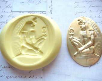 PHARAOH - Flexible Silicone Mold - Push Mold, Jewelry Mold, Polymer Clay Mold, Resin Mold, Craft Mold, Food Mold, PMC Mold