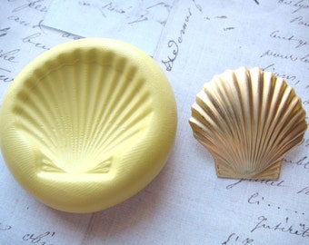 SHELL - Flexible Silicone Mold - Push Mold, Polymer Clay Mold, Resin Mold, Crafting Mold, Pmc Mold