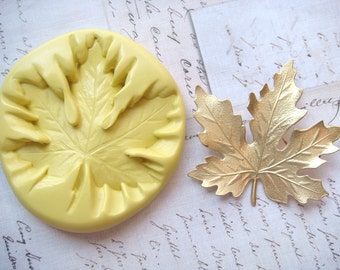MAPLE LEAF (large) - Flexible Silicone Mold - Crafts, Push Mold, Polymer Clay Mold, Resin Mold, Pmc Mold