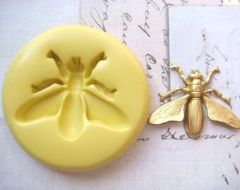 Fly - Flexible Silicone Mold - Push Mold, Jewelry Mold, Polymer Clay Mold, Resin Mold, Craft Mold, Food Mold, PMC Mold