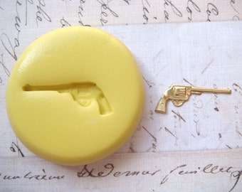GUN - Flexible Silicone Mold - Push Mold, Jewelry Mold, Polymer Clay Mold, Resin Mold, Craft Mold, Food Mold, PMC Mold