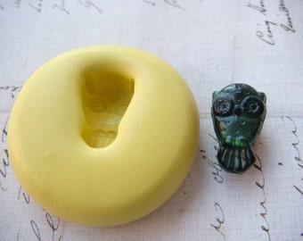 TINY OWL - Flexible Silicone Mold - Push Mold, Polymer Clay Mold, Resin Mold, Pmc Mold, Clay Mold