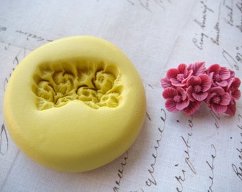 SWAG of FLOWERS - Flexible Silicone Mold - Push Mold, Jewelry Mold, Polymer Clay Mold, Resin Mold, Craft Mold, Food Mold, PMC Mold