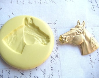 HORSE HEAD (Large) - Flexible Silicone Mold - Polymer Clay Mold, Resin Mold, Fondant Mold, Pmc Mold