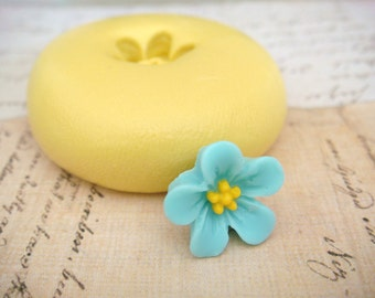 Tiny Wildflower  - Flexible Silicone Mold - Push Mold, Jewelry Mold, Polymer Clay Mold, Resin Mold, Craft Mold, Food Mold, PMC Mold