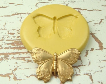 Moth - Flexible Silicone Mold - Push Mold, Jewelry Mold, Polymer Clay Mold, Resin Mold, Craft Mold, PMC Mold