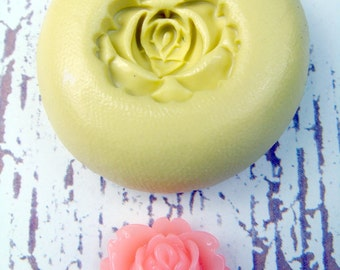 Rose Flower - Flexible Silicone Mold - Push Mold, Jewelry Mold, Polymer Clay Mold, Resin Mold, Craft Mold, Food Mold, PMC Mold